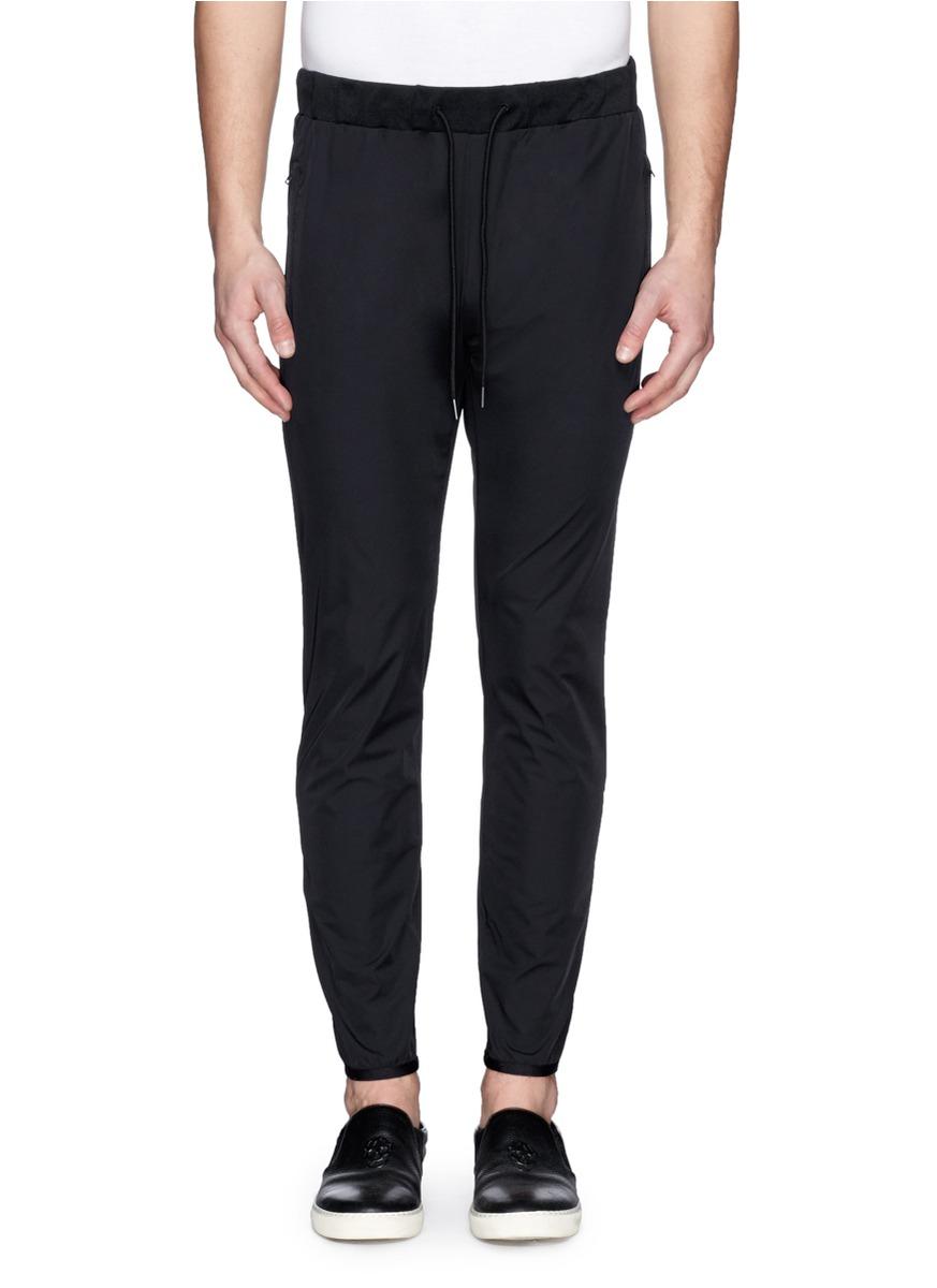 Theory 'Damire' Elastic Cuff Nylon Sweatpants in Black for Men - Lyst