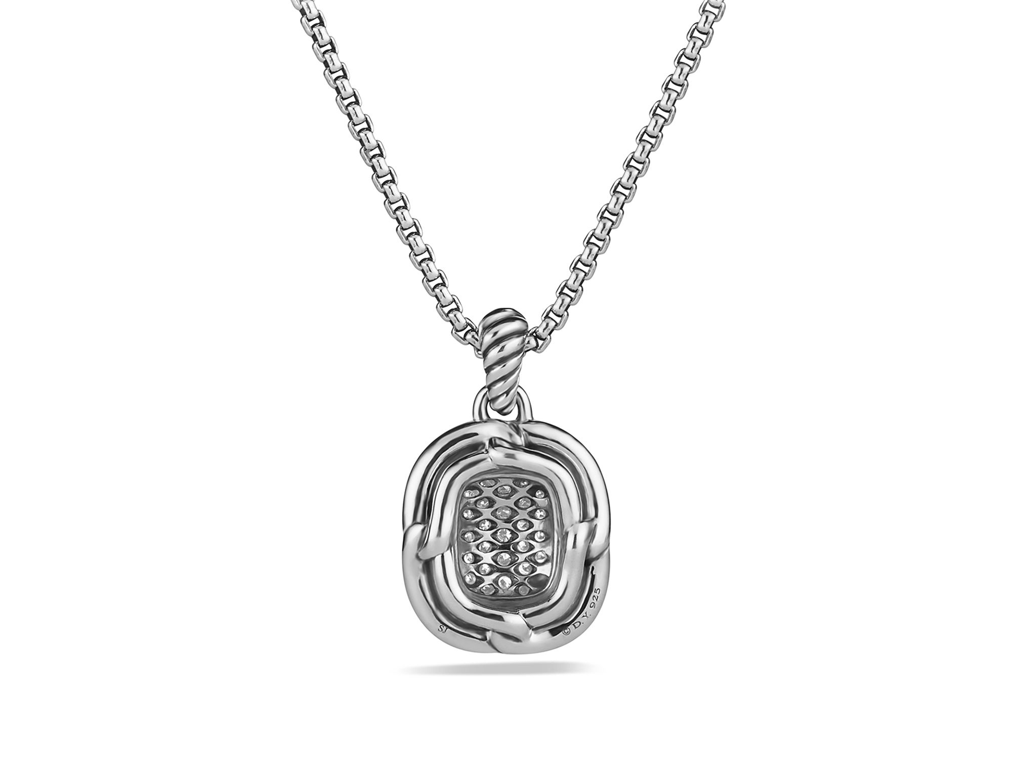 David Yurman Labyrinth Pendant With Diamonds On Chain in