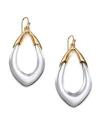 Alexis Bittar Lucite Orbit Link Drop Earrings in Silver ...