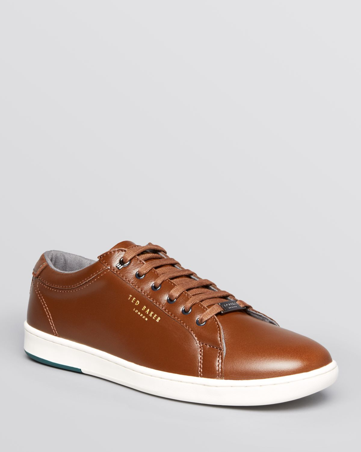 Ted Baker Theeyo Leather Sneakers In Brown For Men Lyst
