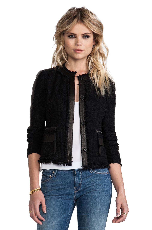 Lyst Rebecca Taylor Tweed Fitted Blazer In Black In Black