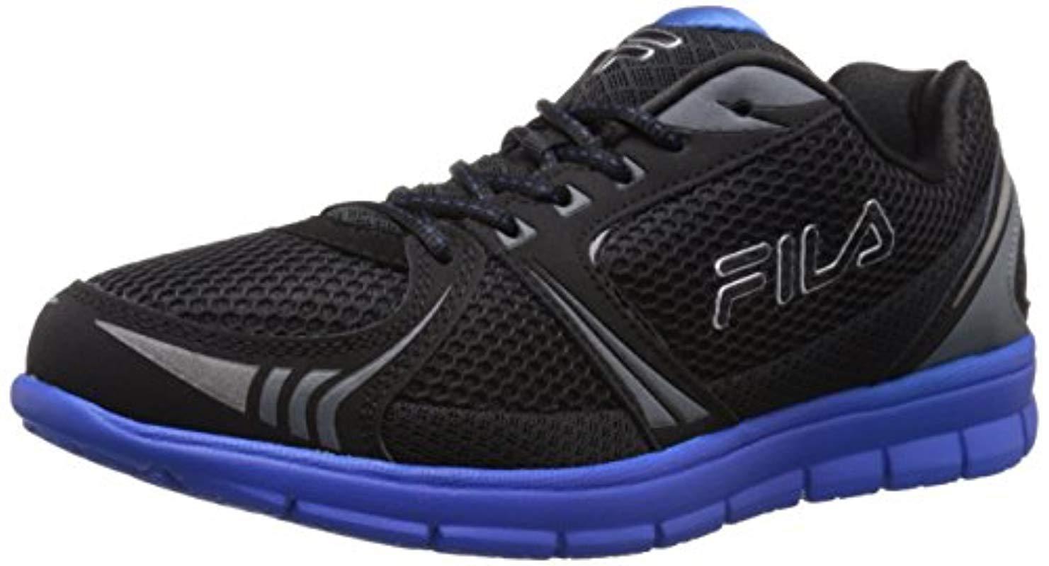 eb79502145c5 Lyst Fila Luxey Running Shoe In Black For Men