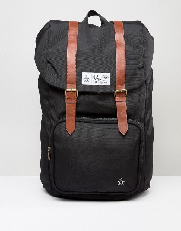 Lyst - Original Penguin Twin Strap Pearl Backpack In Black