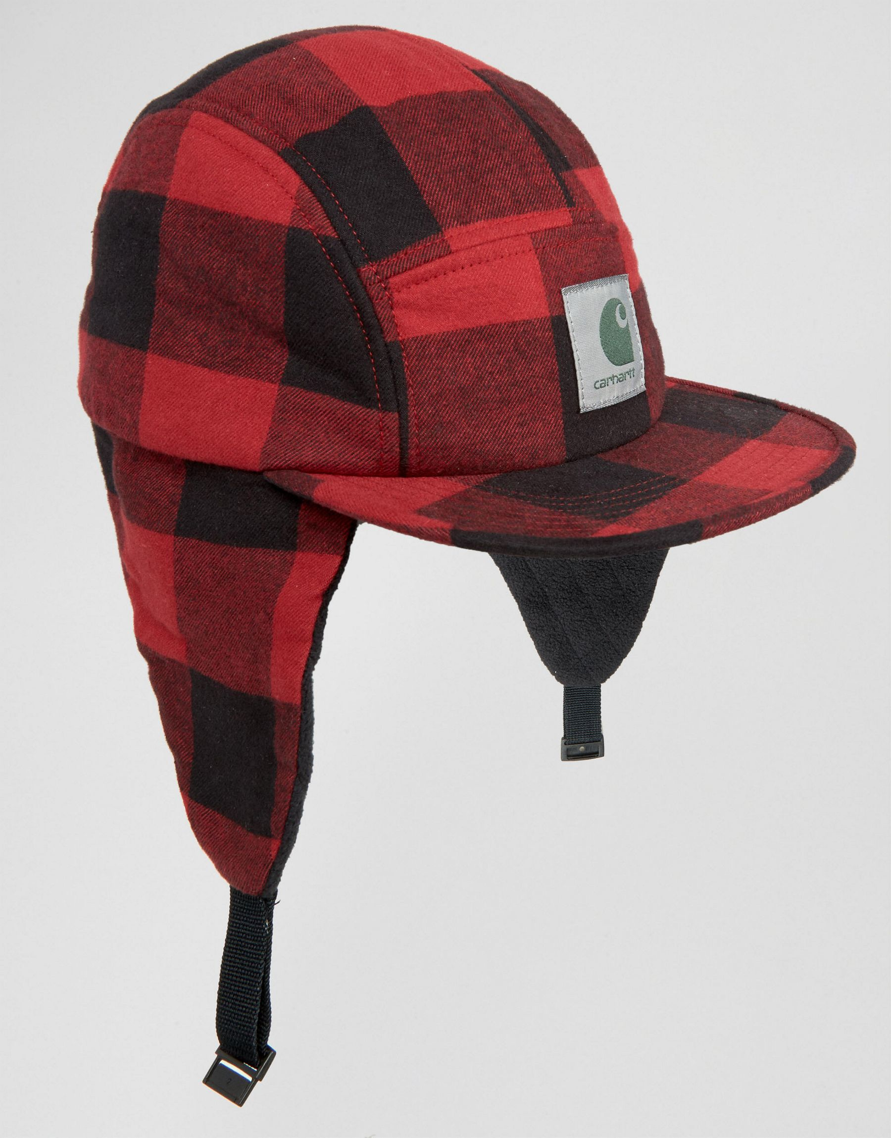 Lyst  Carhartt Wip Hat With Ear Flaps in Red for Men