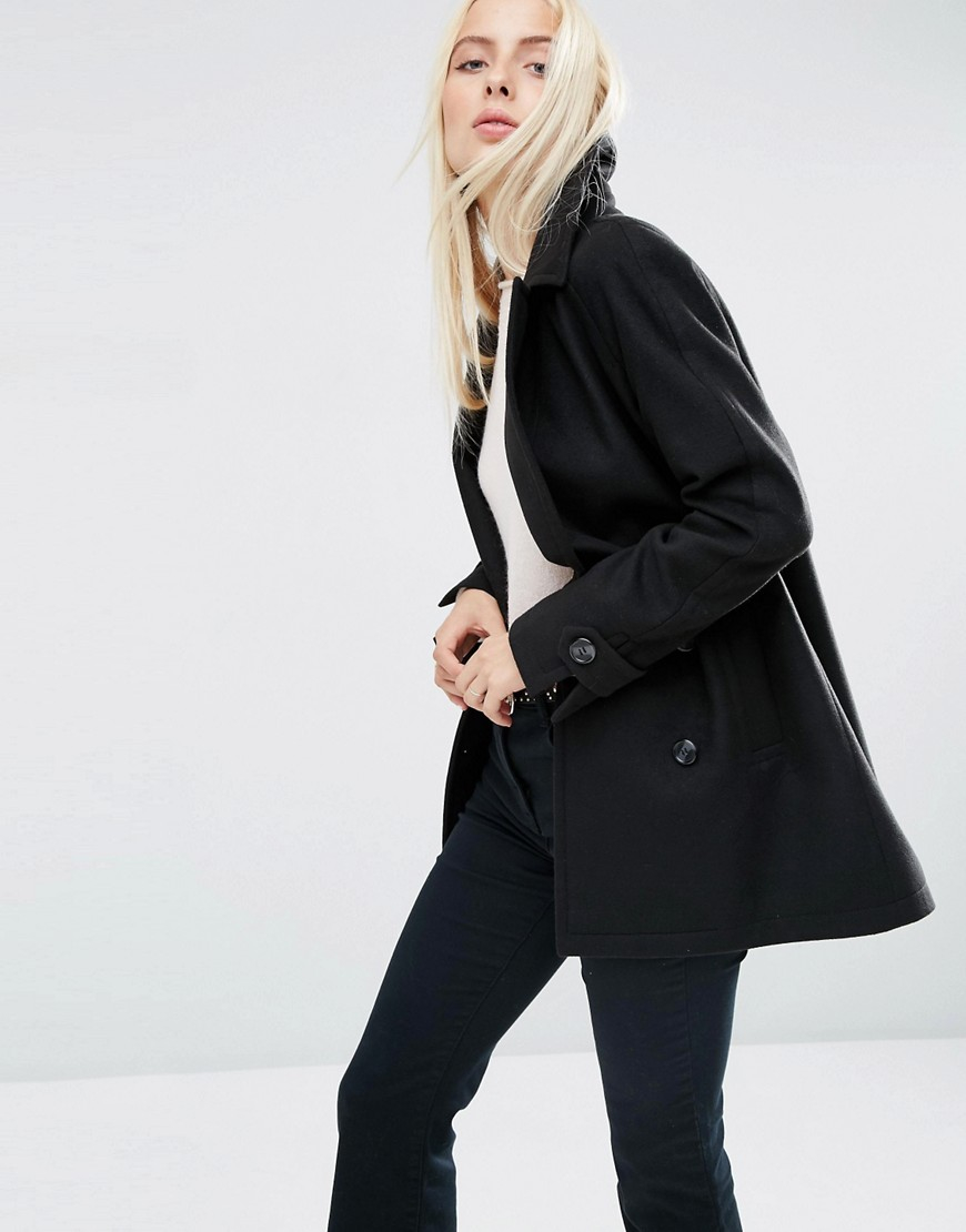 Lyst Asos Parka With Faux Fur Hood In Black