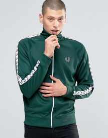 Track Jackets For Men Black Green Year of Clean Water