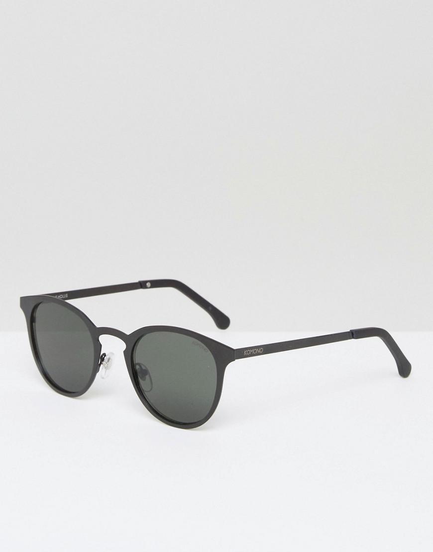 Komono Hollis Round Sunglasses In Matte Black for Men - Lyst
