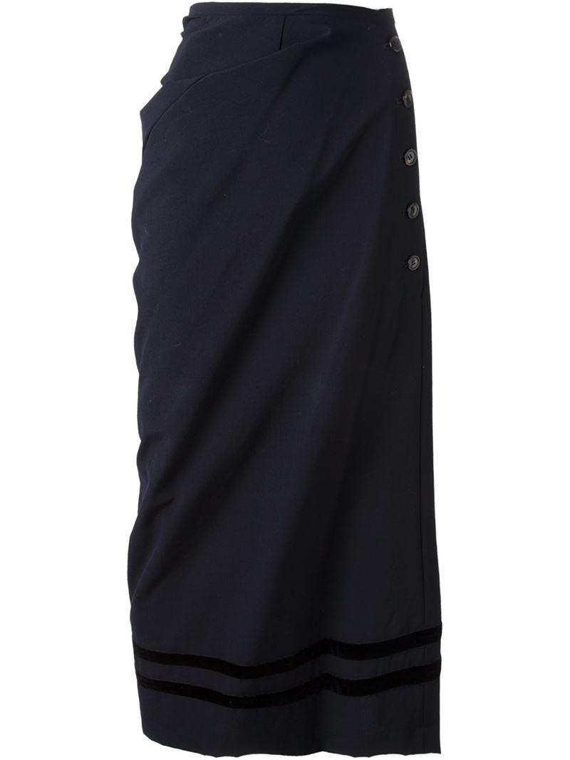 Lyst  Comme Des Garons robe De Chambre Asymmetric Skirt in Blue