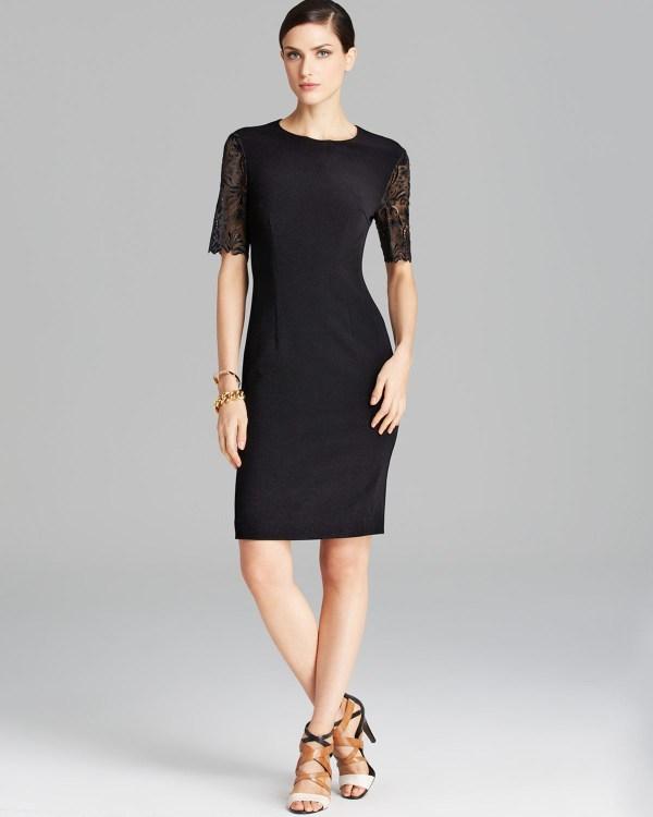 Escada Dress Lace Cutout In Black Lyst