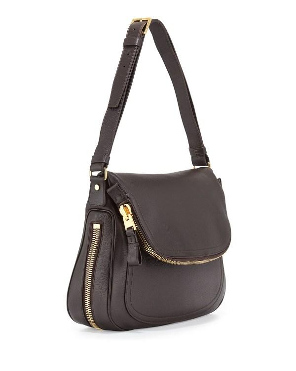 Tom Ford Jennifer Medium Leather Shoulder Bag In Brown Lyst