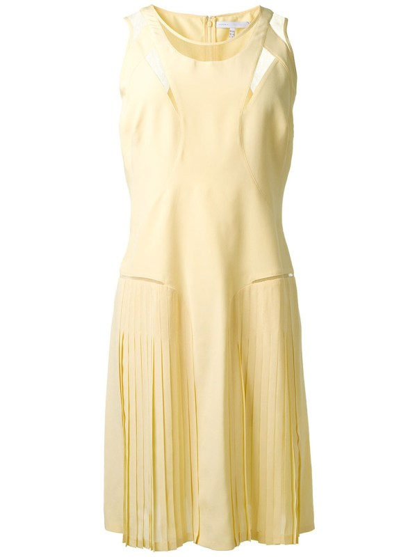 Victoria Victoria Beckham Sheer Panel Shift Dress in