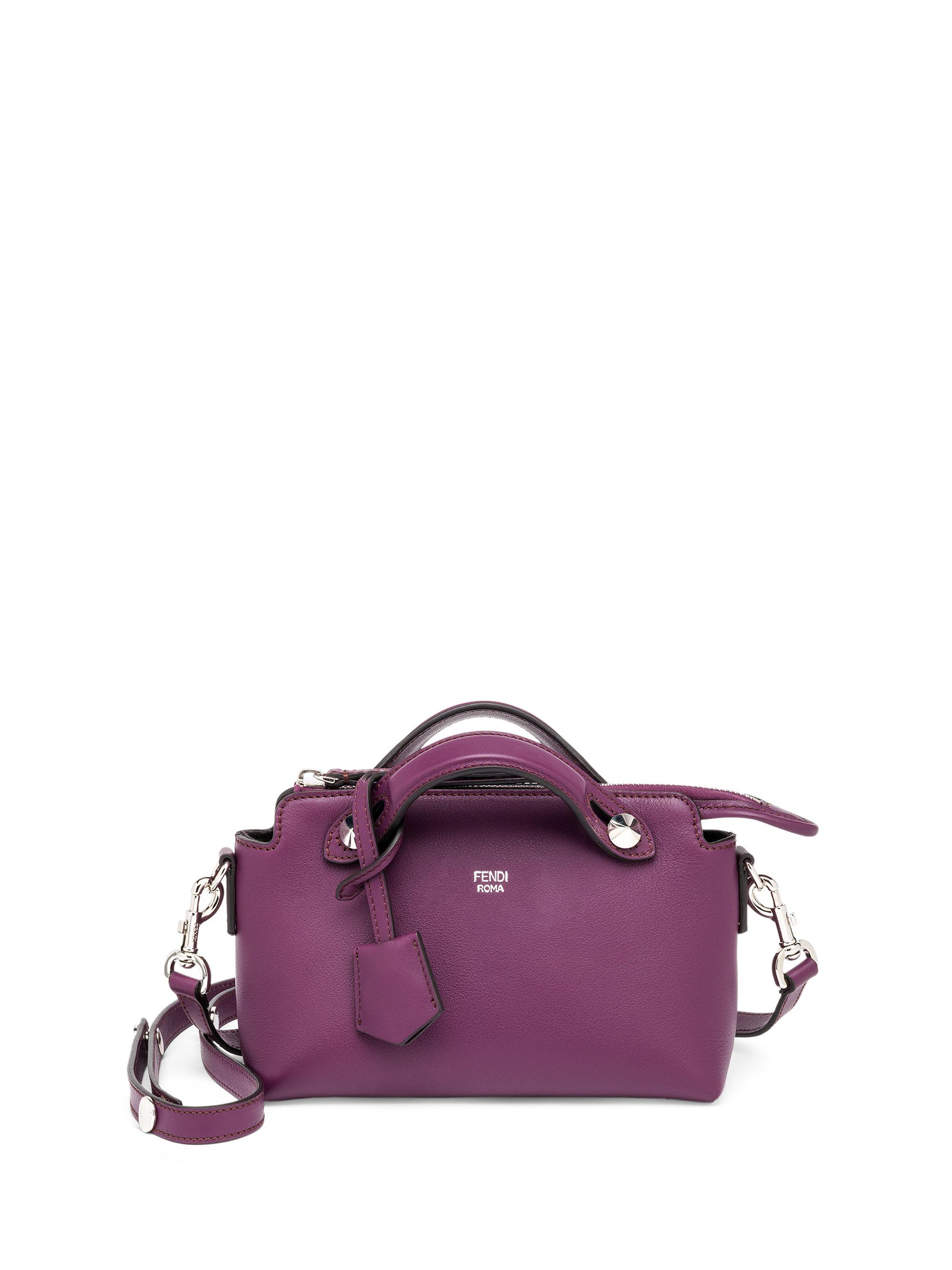 Fendi By The Way Mini Leather Satchel in Purple - Lyst