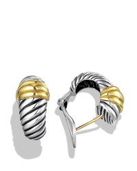 Lyst - David yurman Cable Classics Earrings With Gold in ...