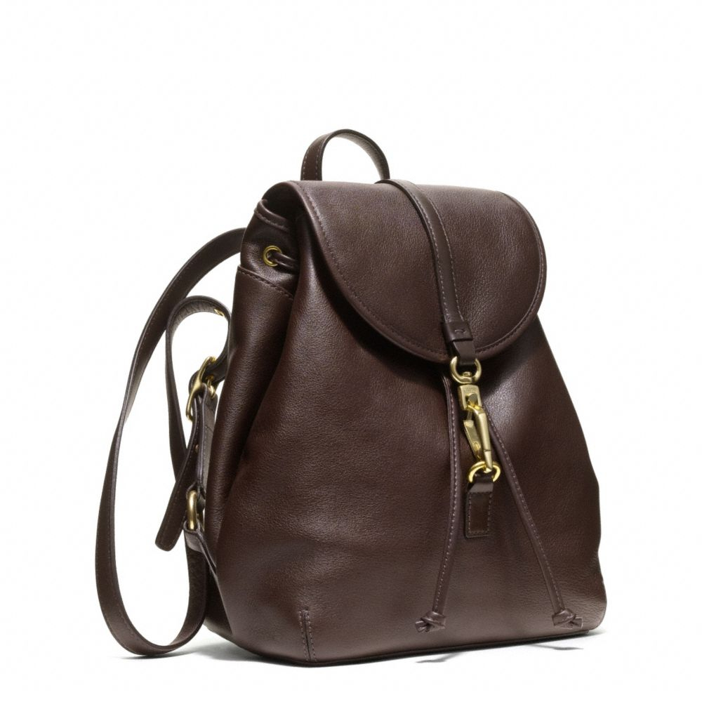 Coach Studio Legacy Backpack In Leather in Brown brass
