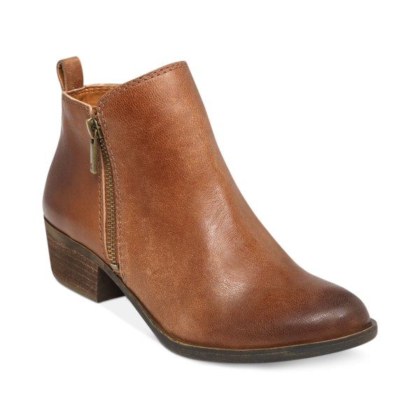 Lucky Brand Women' Basel Booties In Brown Toffee Lyst