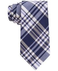Calvin klein Silk-Rich Plaid Tie in Blue for Men | Lyst