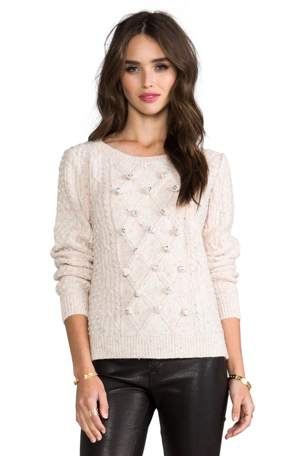 Lyst - Milly Sparkle Sweater In Cream White