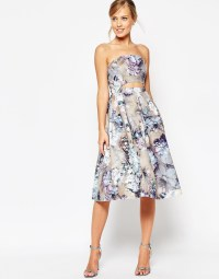 Lyst - Asos Salon Two Piece Vintage Floral Prom Dress in Blue