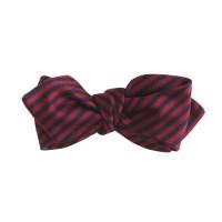J.crew English Silk Bow Tie In Crimson Stripe in Blue for ...