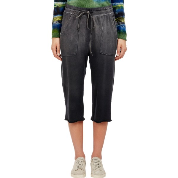 Lyst - Raquel Allegra Women' Sun Fade Cropped Sweatpants In Black