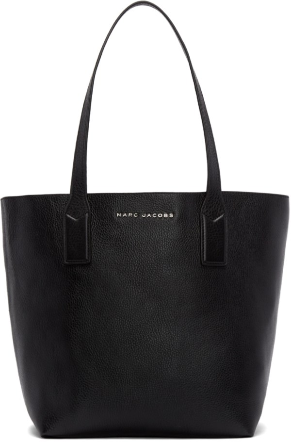 Lyst - Marc Jacobs Black Leather Wingman Tote