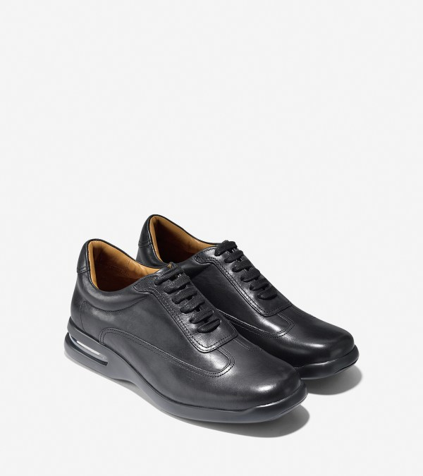 Cole Haan Air Conner Leather Oxford Sneakers In Black Men Washed Lyst