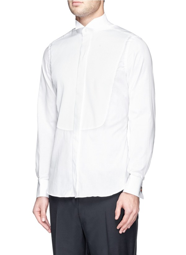 4050f01afcda6a Pleated Bib Front Tuxedo Shirt - Year of Clean Water