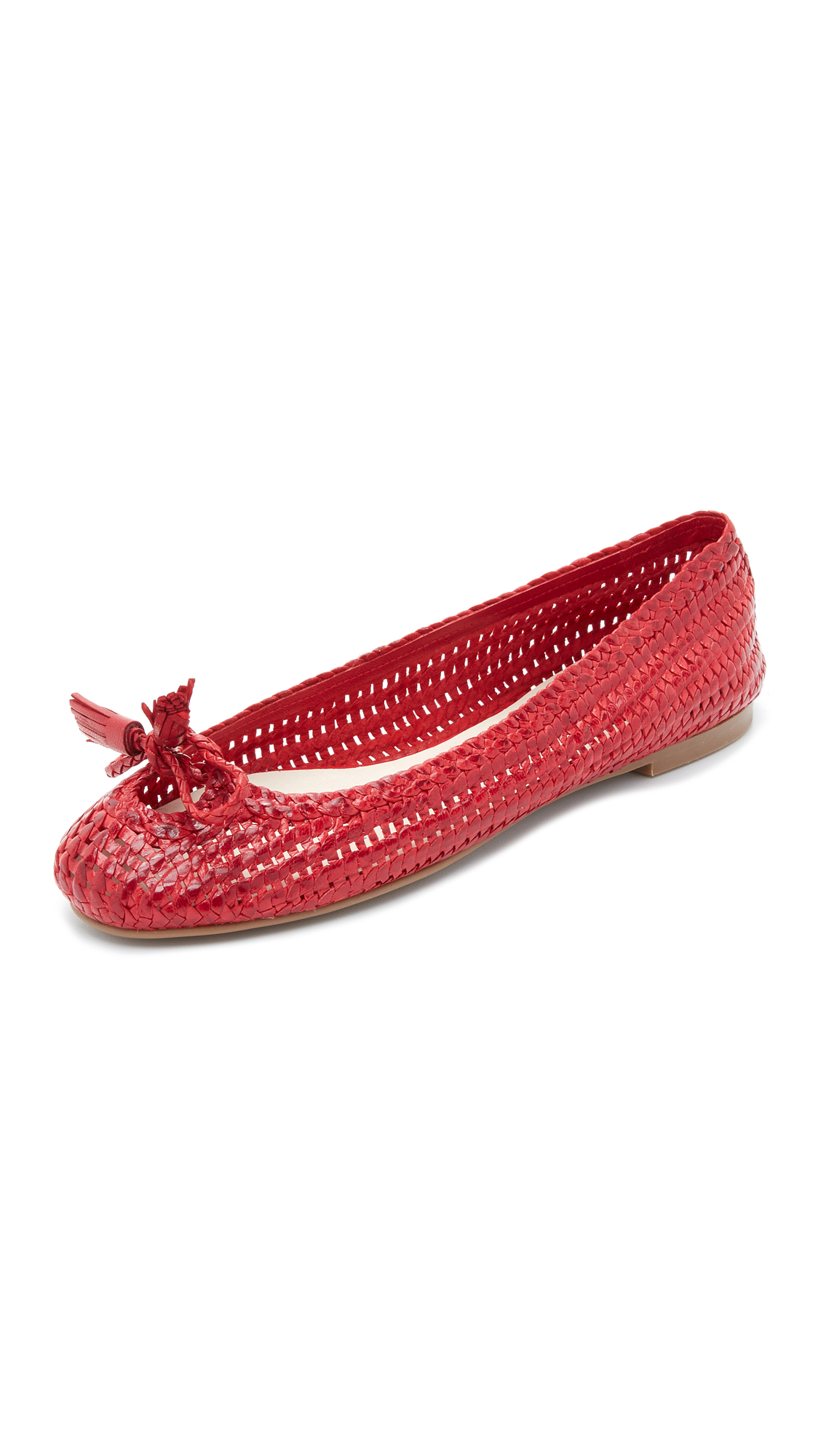 Lyst Frances Valentine Emma Woven Flats In Red