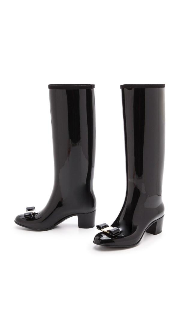Ferragamo Niper Rain Boots Nero In Black - Lyst