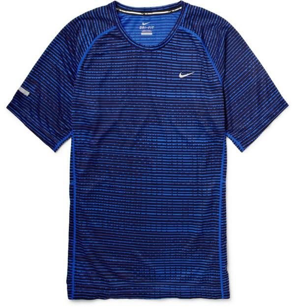 Lyst - Nike Printed Dri-fit Running T-shirt In Blue Men