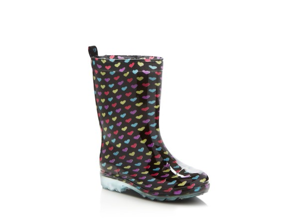 Capelli Girls' Heart Rain Boots - Toddler Little Kid Big
