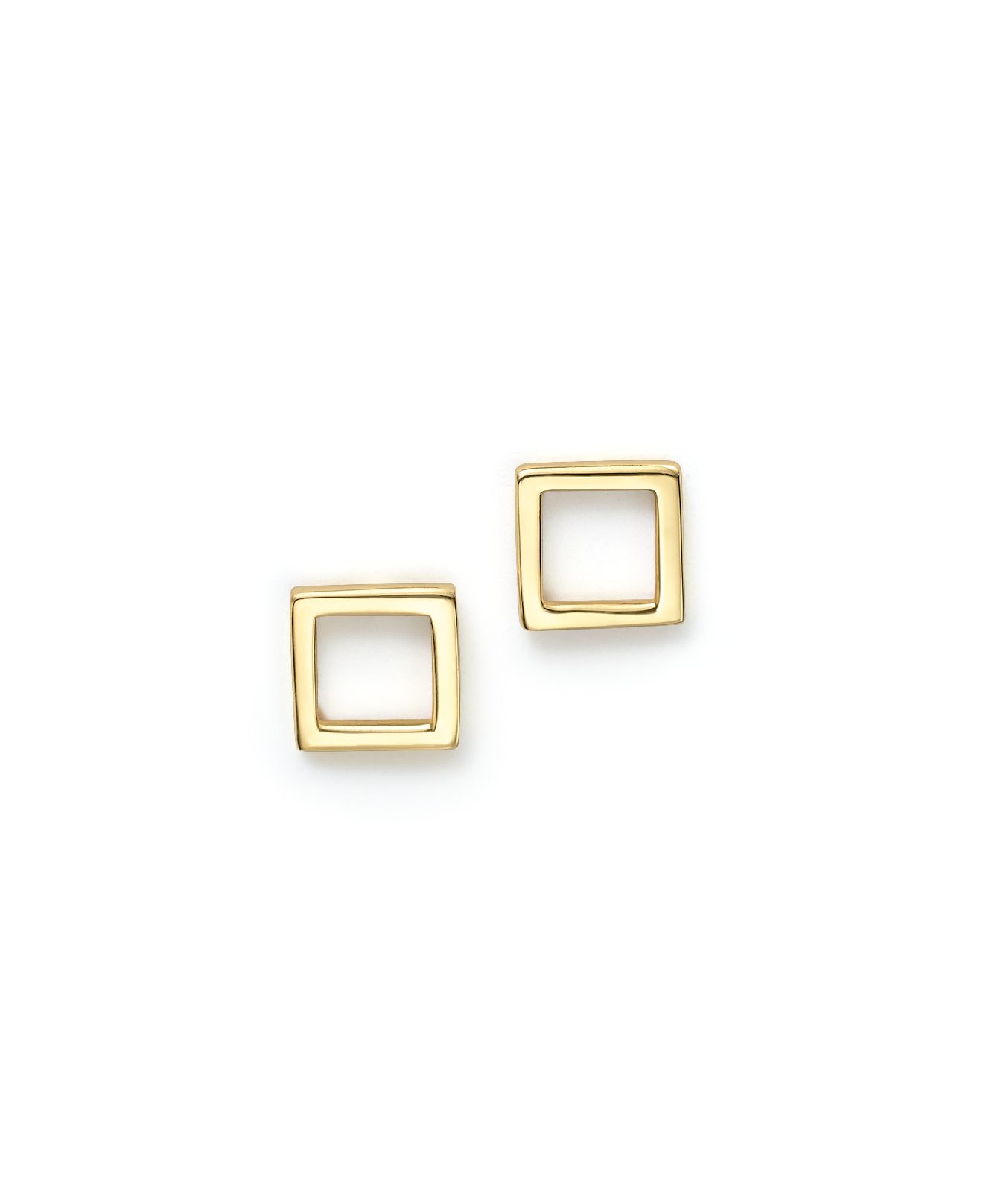 Mateo 14k Yellow Gold Square Stud Earrings in Gold