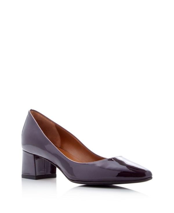 Lyst - Aquatalia Phoebe Weatherproof Mid Heel Pumps In Purple