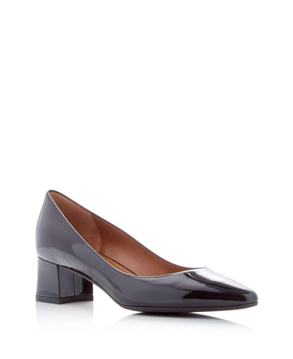 Aquatalia Phoebe Weatherproof Mid Heel Pumps In Black Lyst