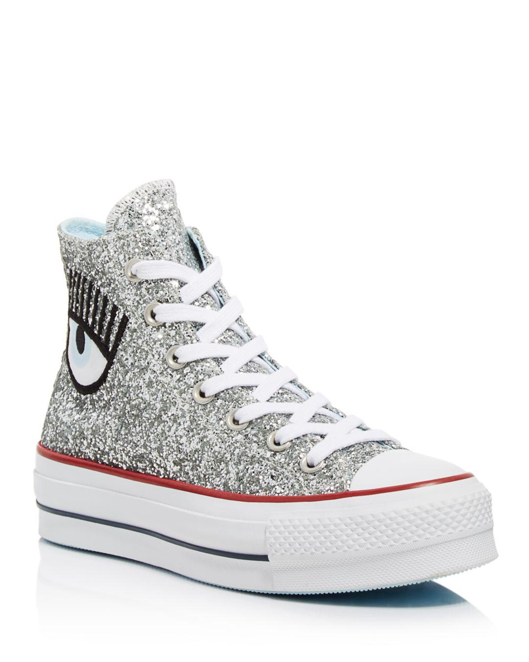 Converse X Chiara Ferragni Women's Chuck Taylor Glitter High Top Sneakers in Metallic - Save 42% - Lyst