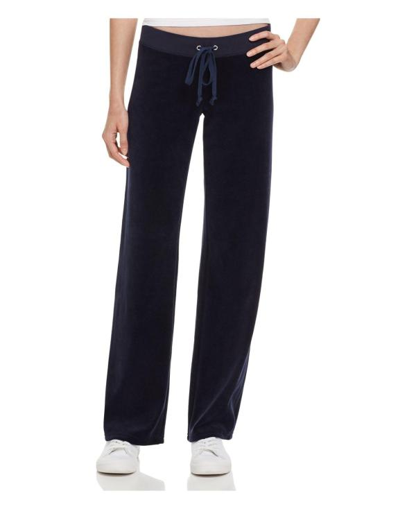 Juicy Couture Original Flare Velour Pants In Blue - Lyst