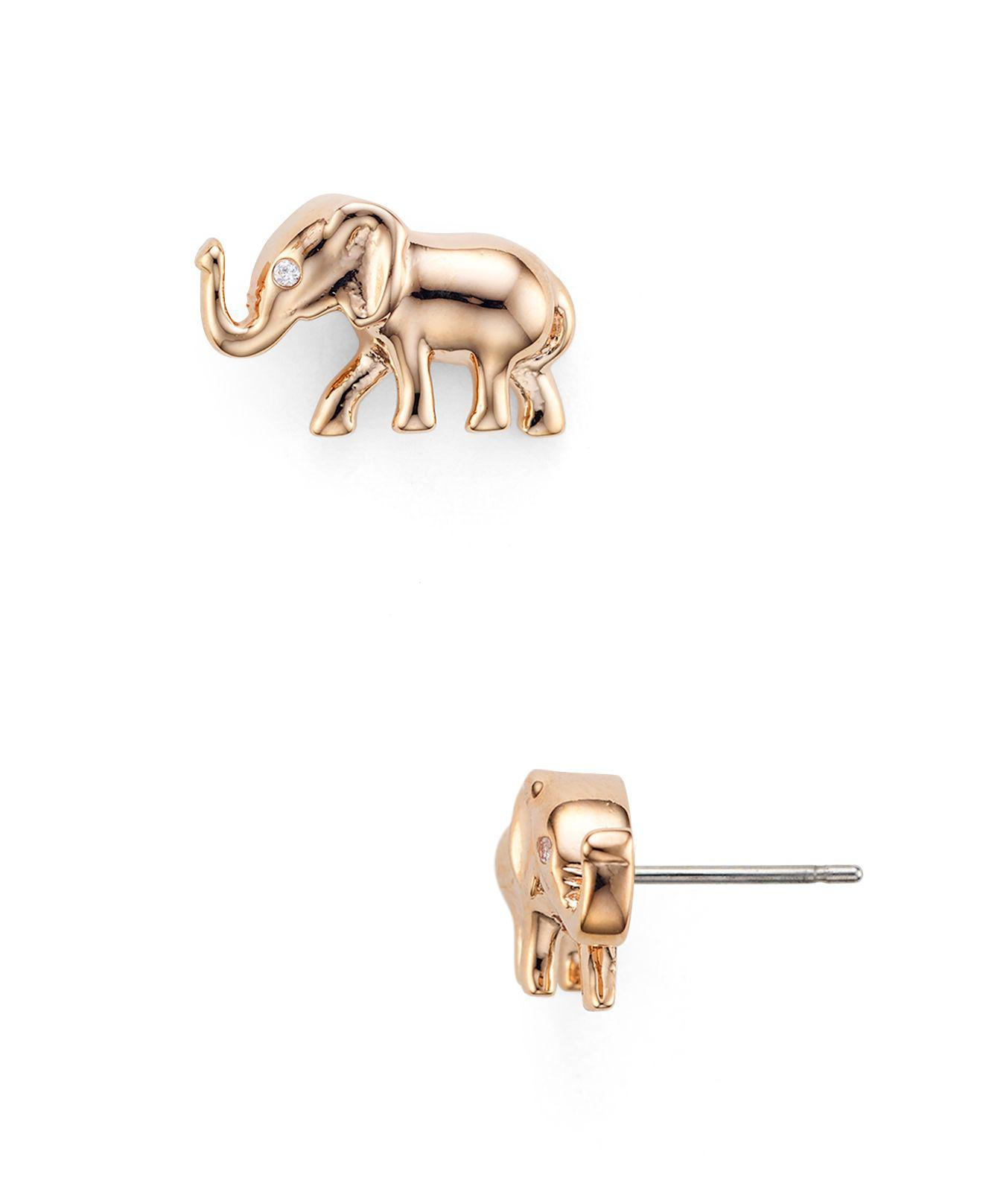 Gold Elephant Stud Earrings Elephant Stud Earrings