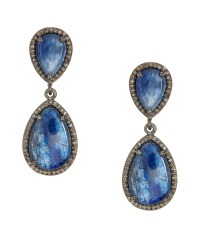 Adornia Kyanite And Champagne Diamond May Earrings in Blue ...