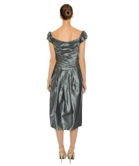 Vera wang Silk Beaded Evening Dress | Lyst