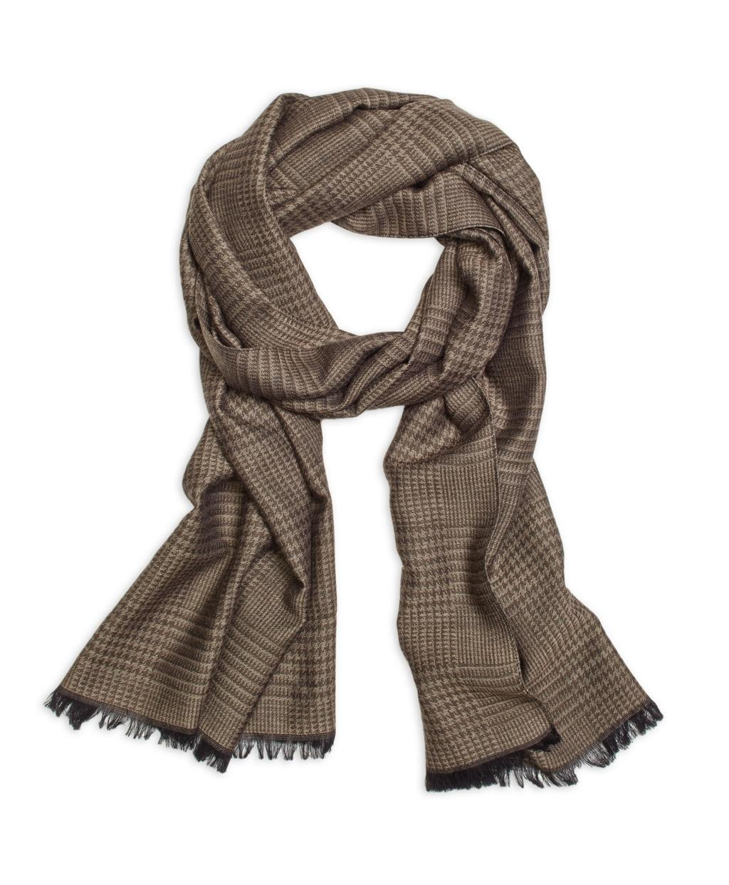 Lyst Brooks Brothers Glen Plaid Scarf In Natural For Men