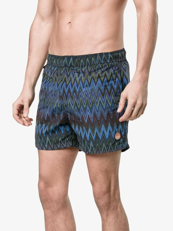 e3e0dfce32 Missoni Zig Zag Print Men's Swim Shorts Blue