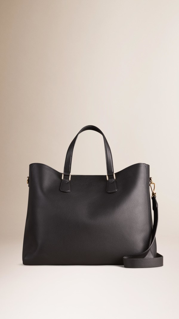 aba09c0f4a Burberry Leather Tote Black - Year of Clean Water