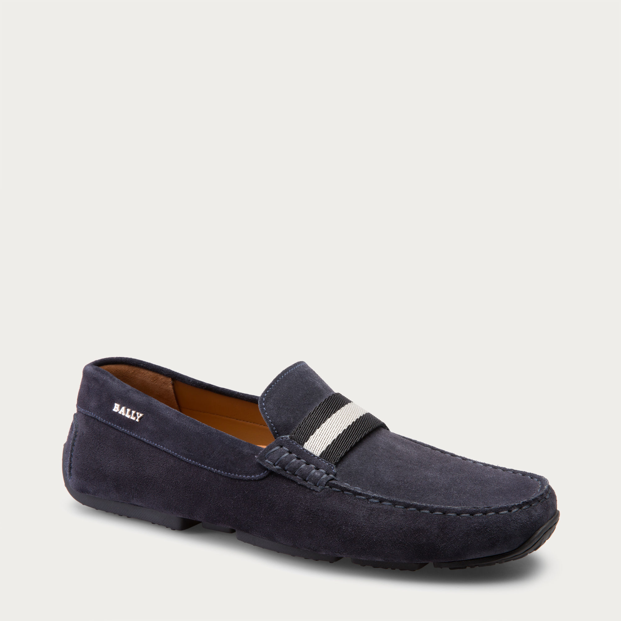 Bally Pearce Men S Suede Driver In Blue Navy In Blue For