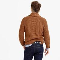 J.crew Textured Cotton Shawl-collar Cardigan Sweater in ...