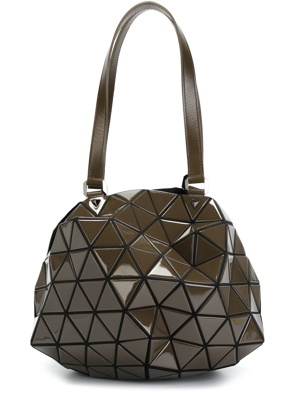 Lyst Bao Bao Issey Miyake Planet Shoulder Bag In Brown