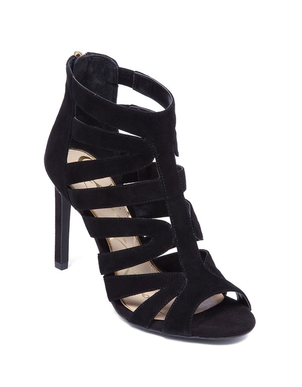 Lyst - Jessica Simpson Careyy Leather Strappy Heels In Black