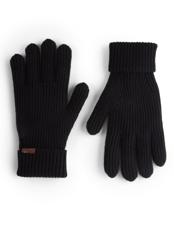 Burberry Cashmere Wool Rib-knit Gloves In Black - Lyst