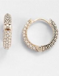 Judith jack Marcasite Huggie Hoop Earrings in Metallic | Lyst