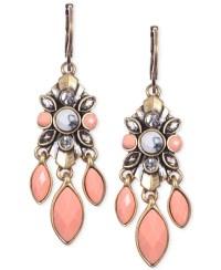Lyst - Anne Klein Gold-tone Drama Drop Earrings