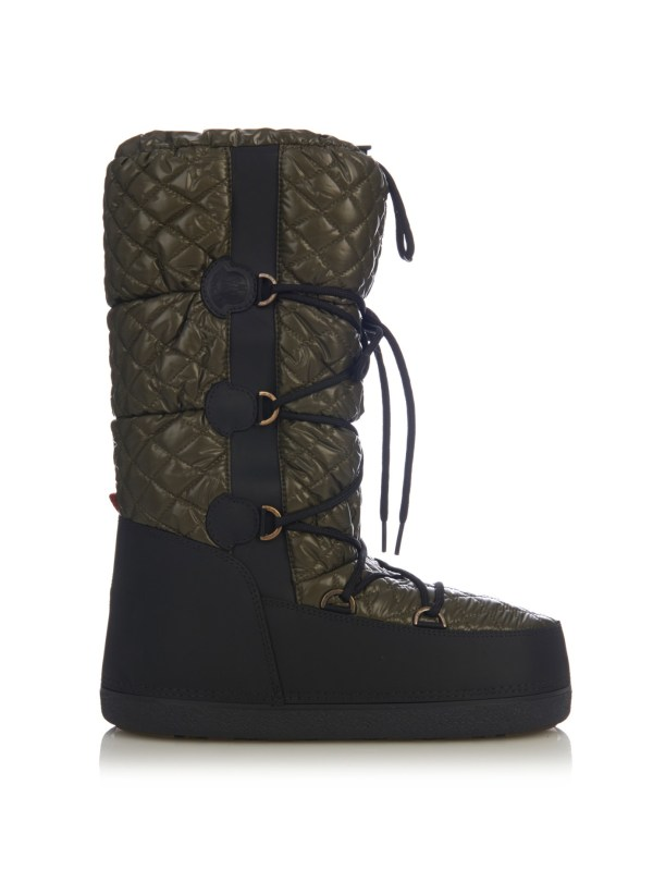 Moncler Moon Quilted Apr-ski Boots In Black Lyst